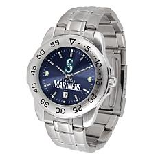 Officially Licensed MLB Steel Sports Watch - Seattle Mariners