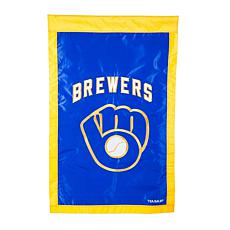 Officially Licensed MLB Team Logo House Flag - Milwaukee Brewers