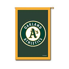Officially Licensed MLB Team Logo House Flag - Oakland A's