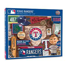 Officially Licensed MLB Texas Rangers Retro Series 500-Piece Puzzle