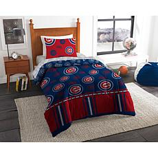 Officially Licensed MLB Twin Bed in a Bag Set - Chicago Cubs