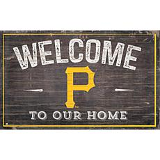 Officially Licensed MLB Welcome to our Home Sign - Pittsburgh Pirates