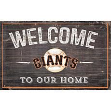 Officially Licensed MLB Welcome to our Home Sign- San Francisco Gia...