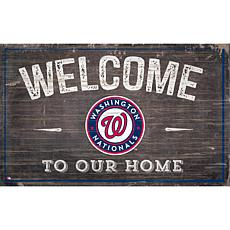 Officially Licensed MLB Welcome to our Home Sign- Washington Nationals
