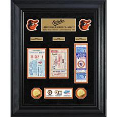 Officially Licensed MLB WS Gold Coin & Ticket Collection - Baltimore