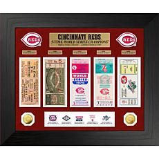 Officially Licensed MLB WS Gold Coin & Ticket Collection - Cincinnati