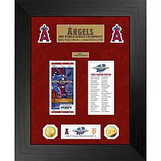 Officially Licensed MLB WS Gold Coin & Ticket Collection - LA Angel...