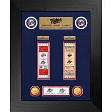 Officially Licensed MLB WS Gold Coin & Ticket Collection - Minnesota