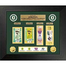 Officially Licensed MLB WS Gold Coin & Ticket Collection - Oakland