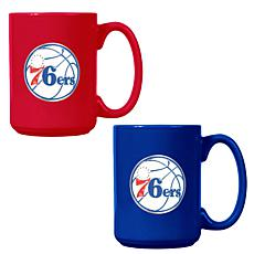Officially Licensed NBA  15 oz. Team Colored Mug Set - 76ers
