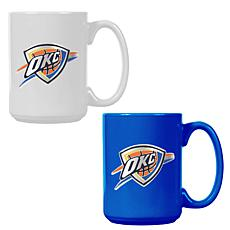 Officially Licensed NBA  15 oz. Team Colored Mug Set - Thunder