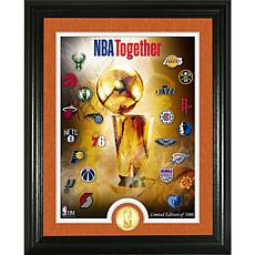 Officially Licensed NBA 2020 Season Finale Bronze Coin Photo Mint