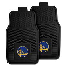 """Officially Licensed NBA 2pc Car Mat Set 17"""" x 27"""" - G State Warriors"""