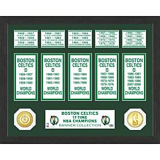 Officially Licensed NBA Boston Celtics Banner Bronze Coin Photo Mint
