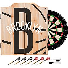 Officially Licensed NBA Dart Cabinet Set - Fade - Brooklyn Nets