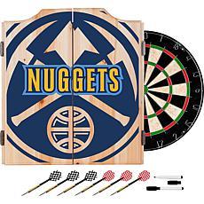 Officially Licensed NBA Dart Cabinet Set - Fade - Denver Nuggets