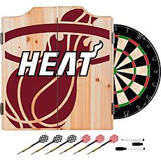 Officially Licensed NBA Dart Cabinet Set - Fade - Miami Heat