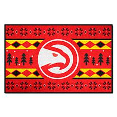 Officially Licensed NBA Holiday Sweater Starter Mat- Atlanta Hawks