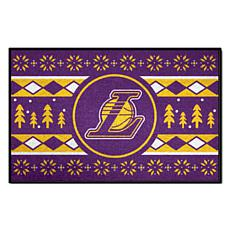 Officially Licensed NBA Holiday Sweater Starter Mat- Lakers