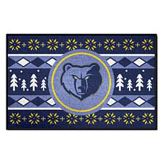 Officially Licensed NBA Holiday Sweater Starter Mat- Memphis Grizzlies