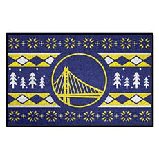 Officially Licensed NBA Holiday Sweater Starter Mat- Warriors
