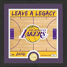 Officially Licensed NBA LA Lakers Battle Cry Bronze Coin Photo Mint