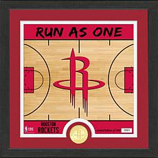 Officially Licensed NBA Rockets Battle Cry Bronze Coin Photo Mint