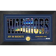 Officially Licensed NBA Silhouette Bronze Coin Photo Mint-Golden State
