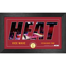 Officially Licensed NBA Silhouette Bronze Coin Photo Mint - Miami Heat
