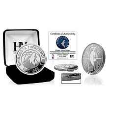 Officially Licensed NBA Silver Mint Coin - Minnesota Timberwolves