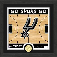 Officially Licensed NBA Spurs Battle Cry Bronze Coin Photo Mint