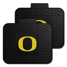 Officially Licensed NCAA  2pc Heavy Duty Vinyl Mat Set-Un. of Oregon