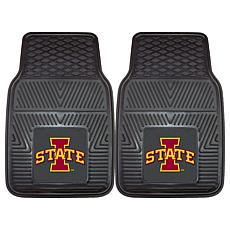Officially Licensed NCAA 2pc Vinyl Car Mat Set- Iowa State University