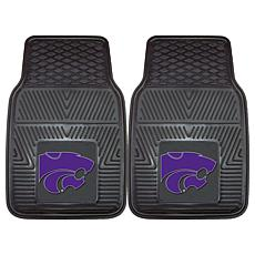 Officially Licensed NCAA 2pc Vinyl Car Mat Set - Kansas State