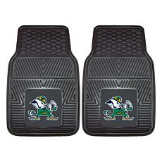 Officially Licensed NCAA 2pc Vinyl Car Mat Set - Notre Dame