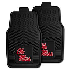 Officially Licensed NCAA  2pc Vinyl Car Mat Set - Un. of Mississippi
