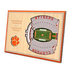 Officially-Licensed NCAA 3-D StadiumViews Display - Clemson Tigers