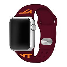 Officially Licensed NCAA 38/40mm Red Apple Watch Band - VA Tech Hokies