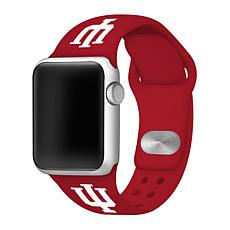 Officially Licensed NCAA 38mm/40mm Apple Watch Band - Indiana - Red