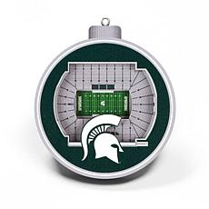 Officially Licensed NCAA 3D StadiumView Ornament 2-pack-Michigan State