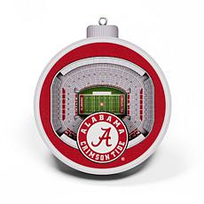 Officially Licensed NCAA 3D StadiumView Ornament 2-pack - Alabama