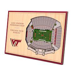 Officially Licensed NCAA 3D StadiumViews Desktop Display-Virginia Tech
