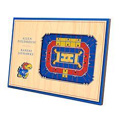 Officially-Licensed NCAA 3D StadiumViews Display - Kansas Jayhawks