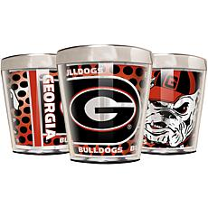 Officially Licensed NCAA 3pc Shot Glass Set - Georgia