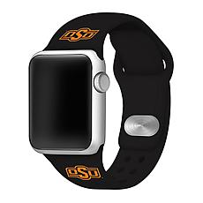 Officially Licensed NCAA 42/44mm Silicone Apple Watch Band-OSU Cowboys