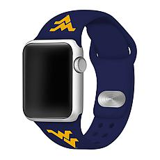 Officially Licensed NCAA 42mm/44mm Silicone Apple Watch Band - WVU