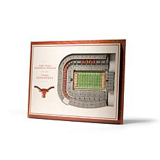 Officially Licensed NCAA 5-Layer 3-D Wall Art - Texas Longhorns