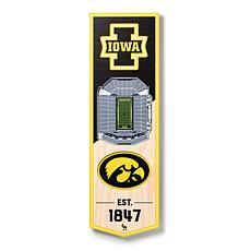 "Officially Licensed NCAA 6"" x 19"" 3D Stadium Banner - Iowa Hawkeyes"