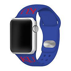 Officially Licensed NCAA Apple Watch Band - KS Jayhawks(38/40mm Blue)