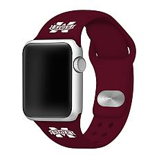 Officially Licensed NCAA Apple Watch Band - MS State (38/40mm Maroon)